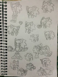 Sonic Sketches by the-odd-cat