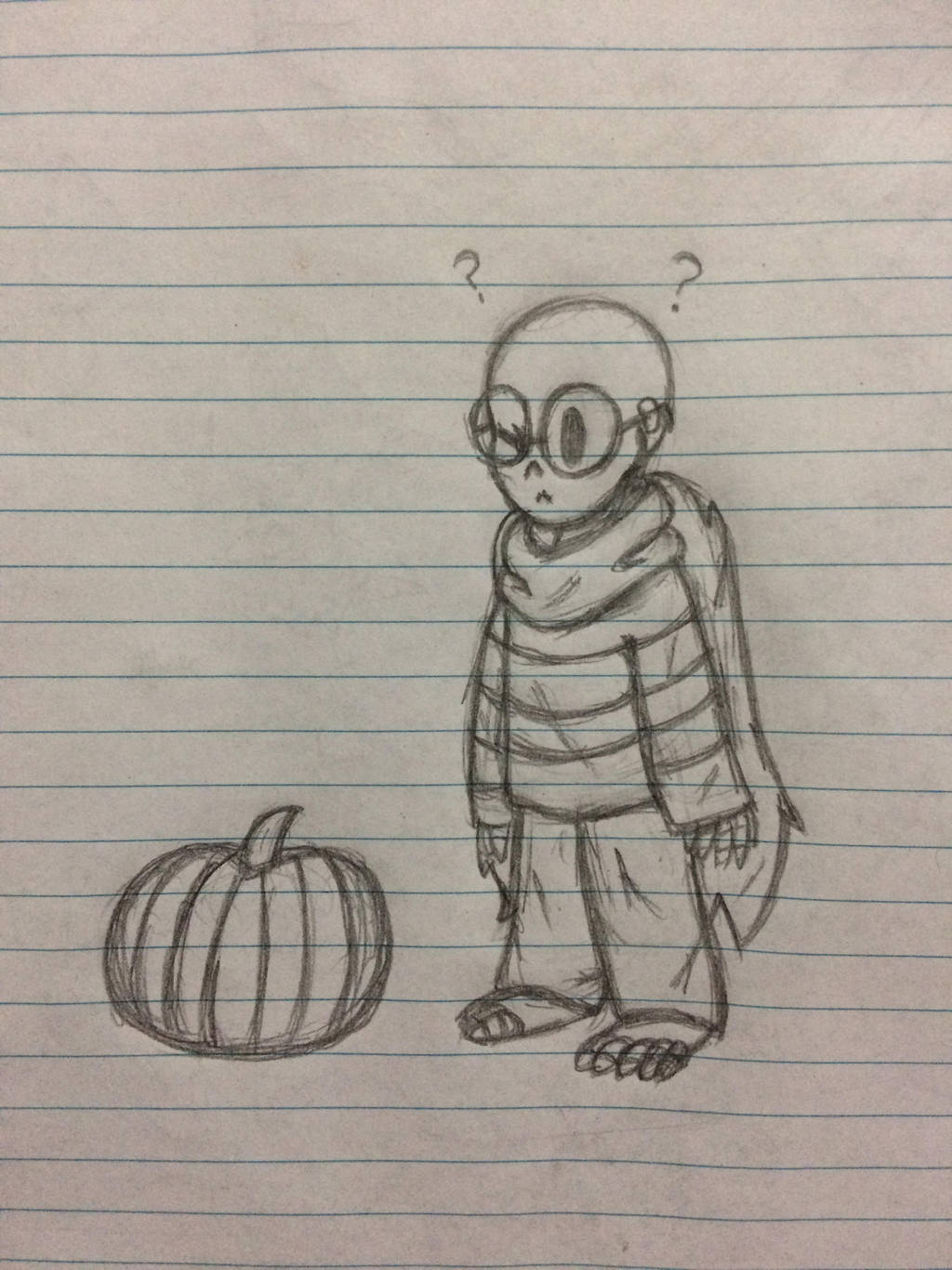 Little Gaster and a pumpkin by the-odd-cat