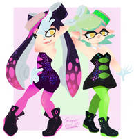Callie and marie by gamerbot101