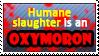 Humane slaughter by Pupaveg