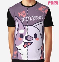 No difference - T-shirt by Pupaveg