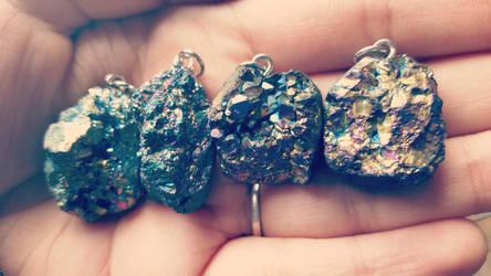 Druzy Necklaces by kiran-freak