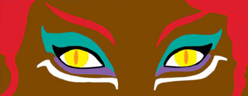 Sphinx Eyes With Makeup by fenrirsilverback
