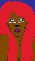 Sphinx Face 3 by fenrirsilverback