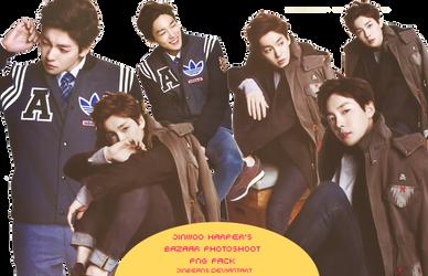 jinwoo harper's bazaar korea png pack by jinbeans