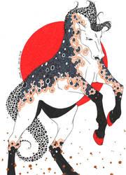 Cheval au Couchant by Jadestanzie