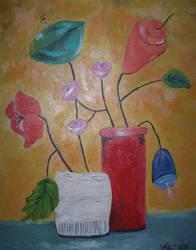 Wired Flowers by cheryblosom