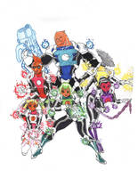 MangaJLA:Spectrum Lantern Corps by Nightshade475