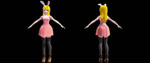(MMDxAU) Fairy Tail- Bunny Lucy DL by Fghostly