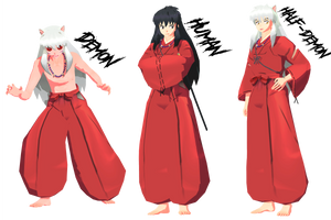 (MMD) Preview model Inuyasha by Fghostly