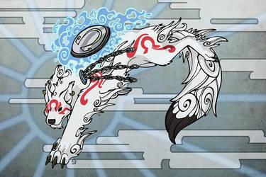Bloodi Okami Style by BloodhoundOmega