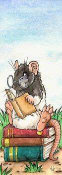 Bookmark - Leseratte by BloodhoundOmega