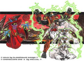 Orko vs. Stinkor by BloodhoundOmega