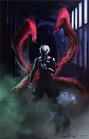 Kaneki Ken - Tokyo Ghoul v2 by JaiStuart
