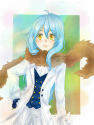 rimuru-sama  the cute slime by NekoreAlyxe