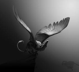 Grayscale Speedpaint- leap to fly again by nekonotaishou