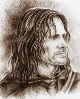 Aragorn by Ginger-snuffkin