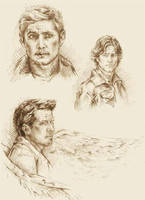 More SPN scetches by Ginger-snuffkin