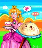 Super Princess Peach by CaramelFrog