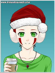 DRAWCEMBER Christmas Alextendo Drinking Starbucks by alextendo
