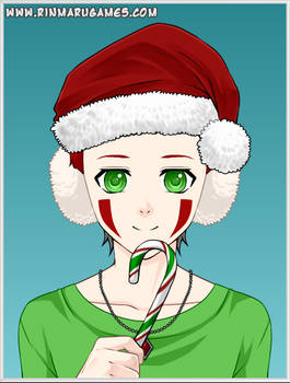 DRAWCEMBER Christmas Alextendo With a Candy Cane by alextendo