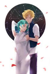 Haruka and Michiru by alpacalu