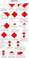 Origami Mario cap by Ongaru