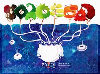Calendar 2018 by sara-nmt