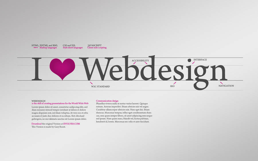 I love Webdesign Wallpaper by NiacinDes