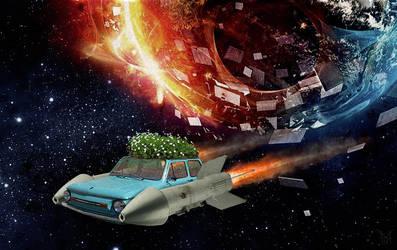 Zaporozhets car spacecraft by mariakovalchuk