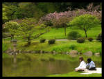 Japanese Garden 6 Two Girls by AmethystUnderwood