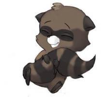 Baby Raccoon by FlameFoxe