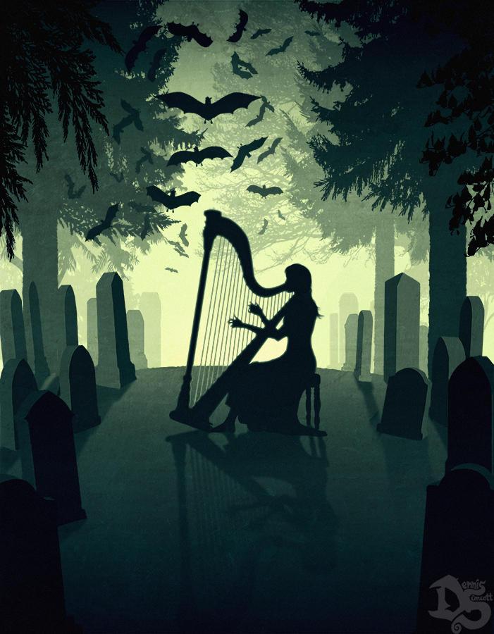 The Vampire Graveyard by SolarShine