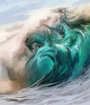 Wild waves by Elsouille