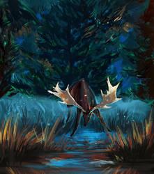 Deer1 by Elsouille