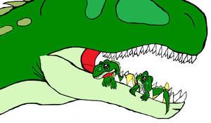 All Yesterday's work: My hatchlings by DinoBirdMan