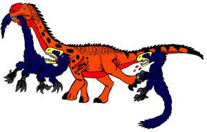 All Yesterday's work: Jurassic fight club by DinoBirdMan