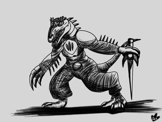 Assistant Alloraptor by DinoBirdMan