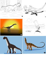 Jurassic January Art Dump 3 by DinoBirdMan