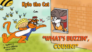 A Kyle the Cat Cartoon by QwertyChris