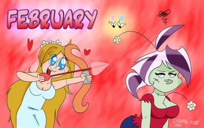 DA Calendar 2013 - FEBRUARY by QwertyChris