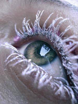 white maskara eye by ftourini-stock