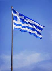greek flag by ftourini-stock