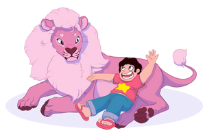 Steven and His Lion by StoryShepherd