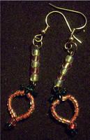 Beaded Strawberry Earrings by kissableangel