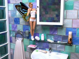 Fairy in Bathroom by pnn32