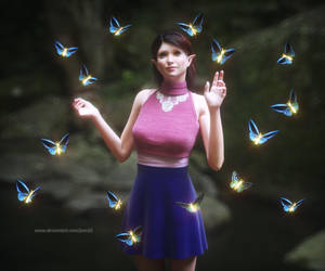 Inside a swarm of inner lightened butterflies by pnn32