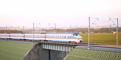 High speed train on bridge by pnn32