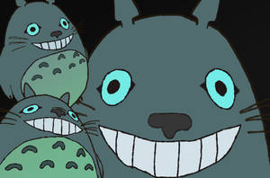 Triple Totoro by NeonWabbit