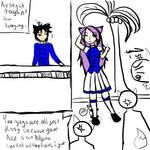 Kawasune and Fleance by The-Cutie-Kitsune